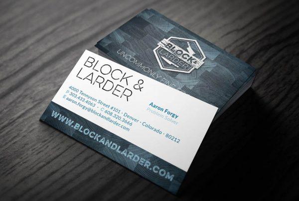 Block & Larder Restaurant Business Cards